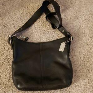 Coach Black Leather Crossbody/Shoulder Bag